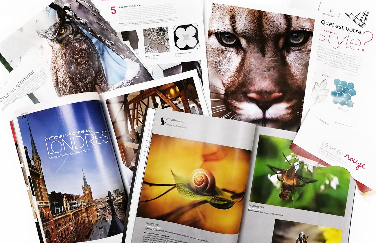 différentes images de magazines