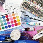 Techniques mixtes peinture acrylique collage et médium