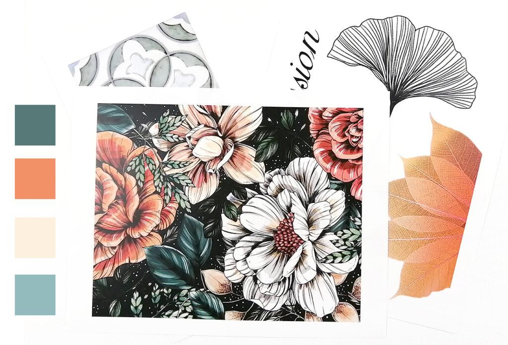 collage artistique comment choisir les couleurs