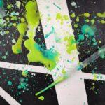 Painting splatter, éclaboussures de peinture, coulisses de peinture acrylique avec pipette