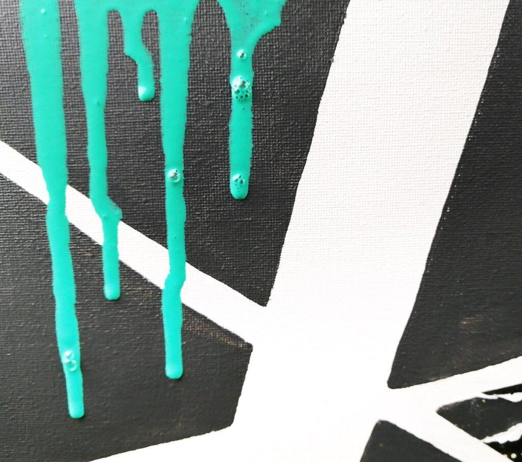 peinture acrylique coulisse splatter painting