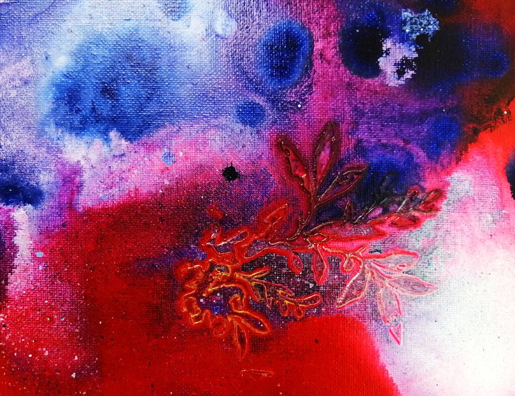 peinture fluide acrylique high flow avec gel épais mâte