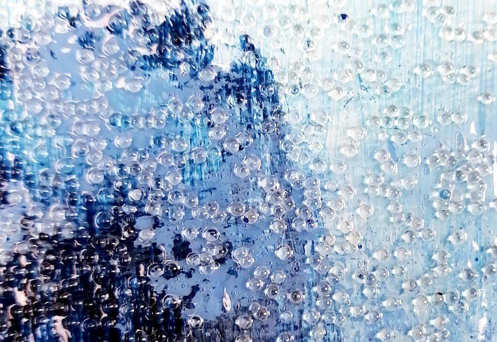 application de gel de texture à effet bulles de verre de Liquitex