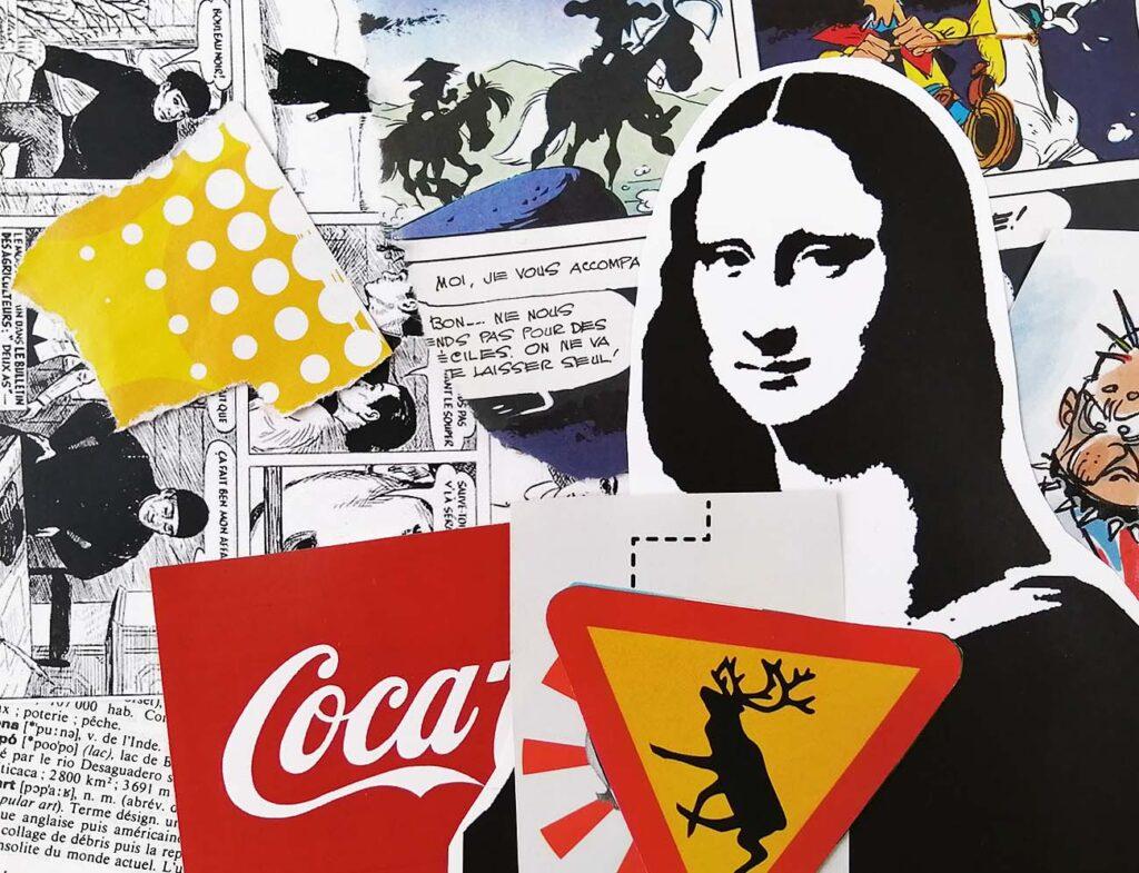 Image déchiré pour collage Pop Art et Street Art