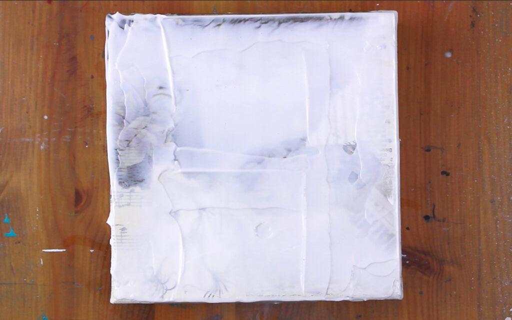 gel médium sur toile pour un effet faux encaustique